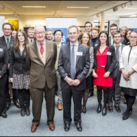 Visit of His Majesty the King Albert II to the lab